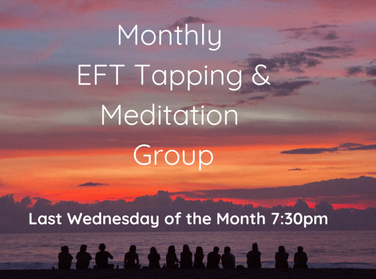 EFT Tapping & Meditation Group with Morgan Webert. Feb 26